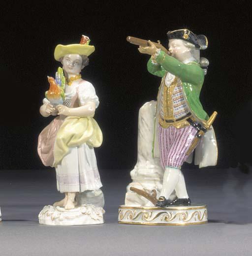 Two Meissen figures