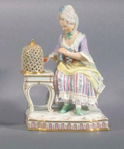 A Meissen figure of a lady