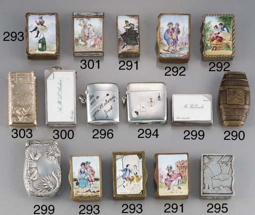 A silver box-type vesta case
