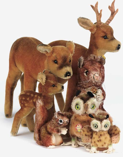 Steiff woodland animals