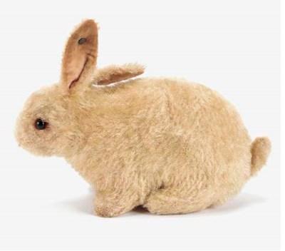 A Steiff white rabbit