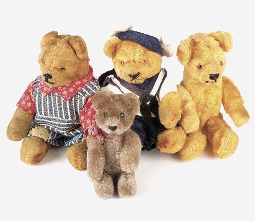 A Schuco minitaure teddy bear