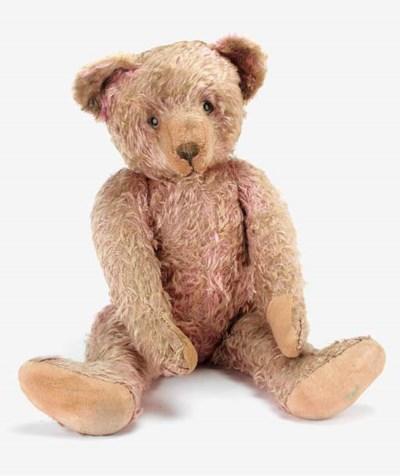 A rare lilac German teddy bear