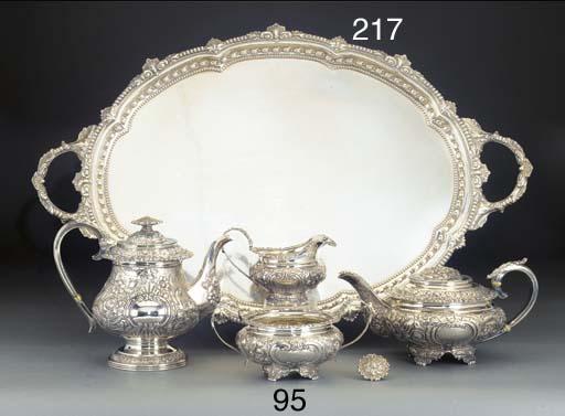 A GEORGE IV SILVER TEA AND COF