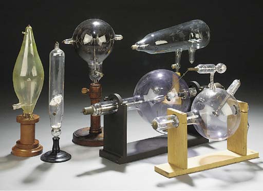 Five various electrical tubes