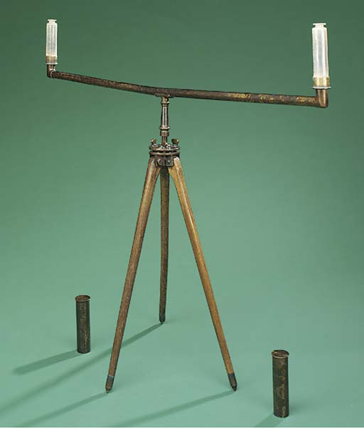 An early 19th-Century lacquered brass surveying level,