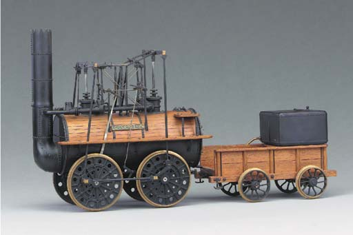 A delicate 3½in. gauge display model of the Stockton and Darlington Railway 0-4-0 Locomotive and Tender 'Locomotion No. 1'
