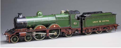 A finely engineered 1.062in.:1ft scale 5in. gauge model of the Great Central Railway Class 8B 4-4-2 locomotive No. 361,