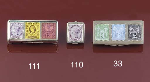 A Victorian triple stamp box
