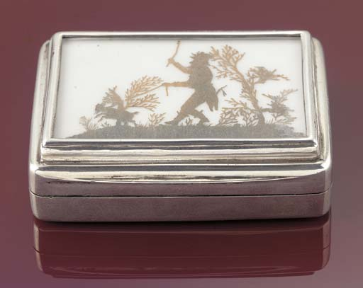 An Edwardian double stamp box