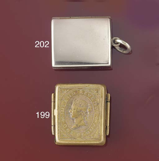 A plated stamp case