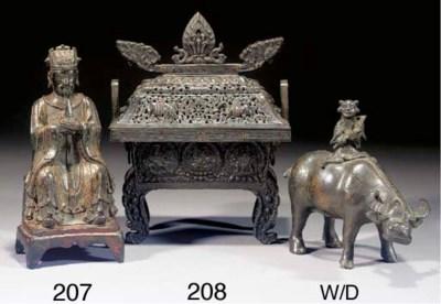 A Tibetan copper and bronze re