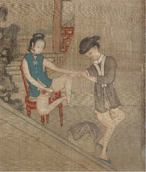 A set of twelve Chinese erotic