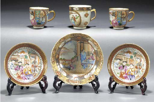 A Rockefeller pattern cup and