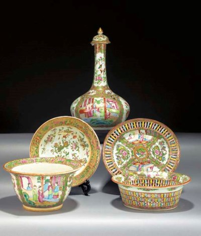 A Cantonese pierced basket and