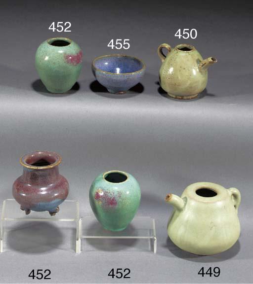 A stoneware pale celadon-grey
