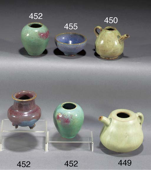 A small Chinese celadon glazed