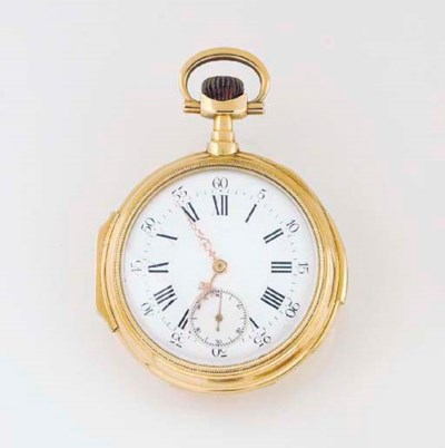 AN 18ct. GOLD MINUTE REPEATING