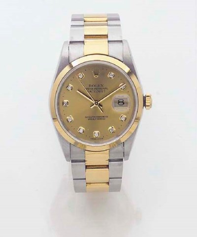ROLEX, A STEEL AND GOLD AUTOMA