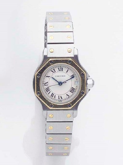 CARTIER, A LADY'S STEEL AND GO