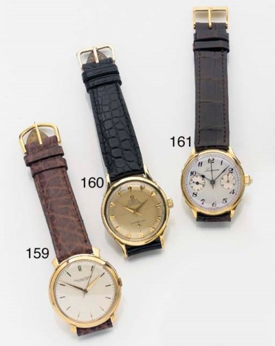 IWC, AN 18ct. GOLD CENTRE SECO