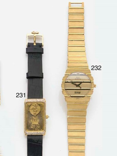 CORUM, AN 18ct. GOLD DIAMOND S
