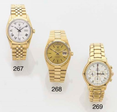 ROLEX, AN 18ct. GOLD DAY-DATE