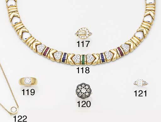 AN 18CT. GOLD, DIAMOND SINGLE