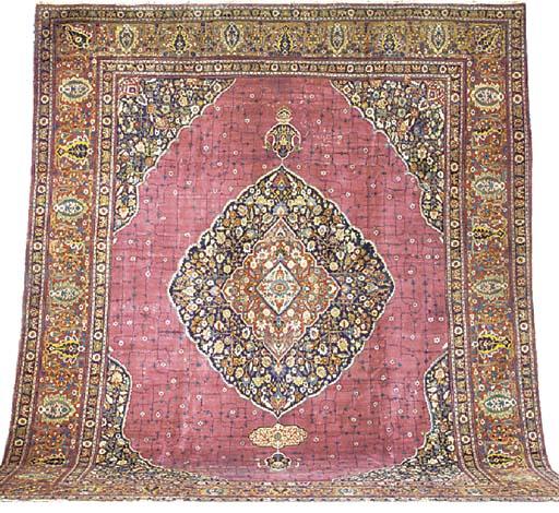 A fine antique Tabriz carpet