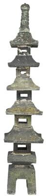 A Japanese granite lantern, la