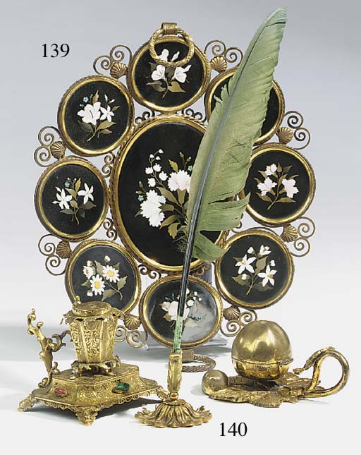 An Italian pietra dure and gil
