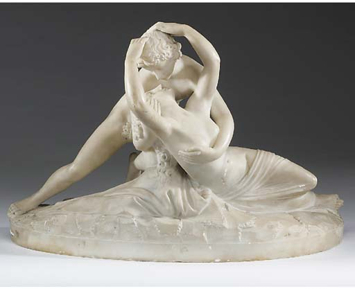 An Italian carved alabaster gr