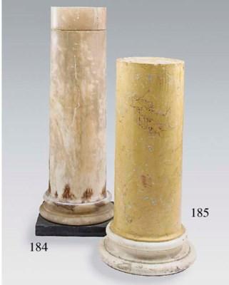 An alabaster pedestal column,
