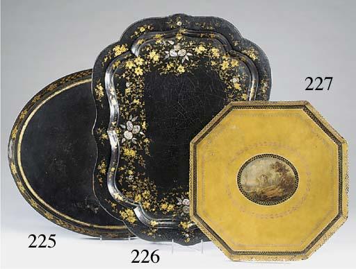 A Regency octagonal japanned m