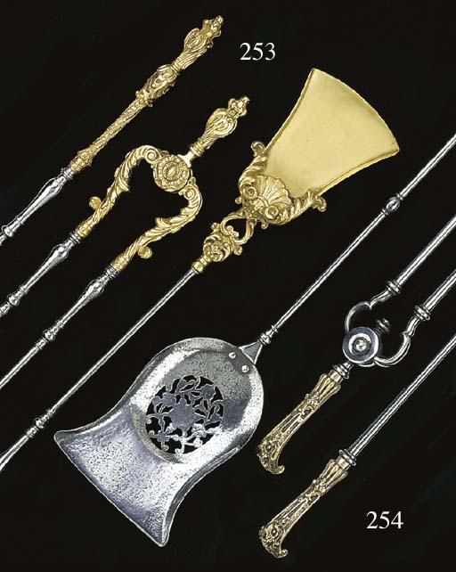 A set of three Dutch brass and