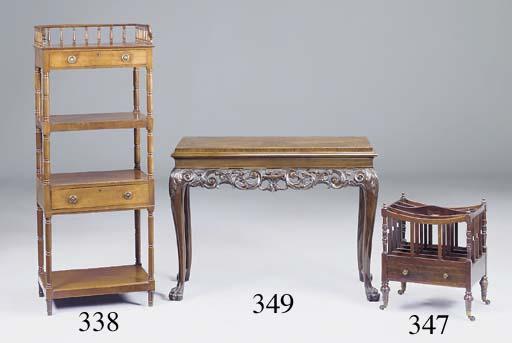 A late Regency mahogany four t