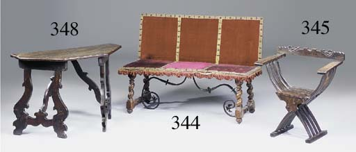 A Spanish walnut bench, possib