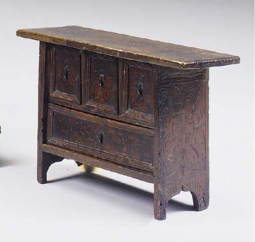 A walnut table cabinet, elemen