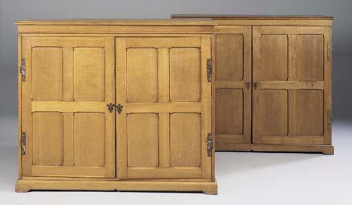 A late Victorian oak wardrobe