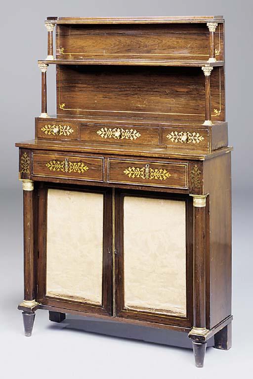 An ormolu mounted rosewood and