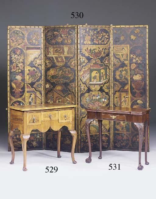 A mahogany games table, 19th/e