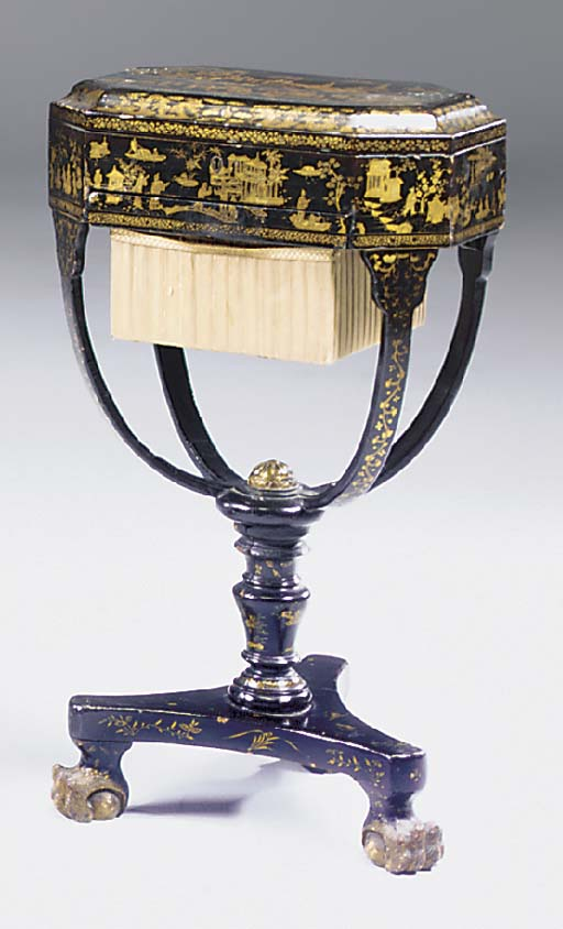 A Chinese export lacquer and g
