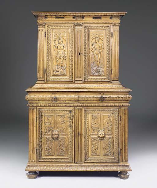 A French walnut cupboard, 17th