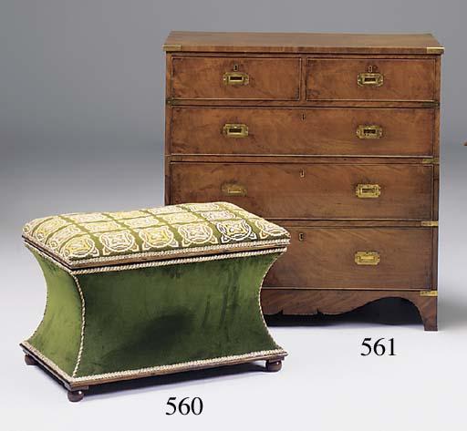 A Regency mahogany and brass b