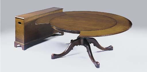 A mahogany circular extending