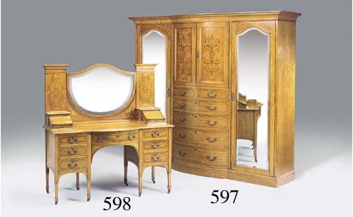 An Edwardian and satinwood and