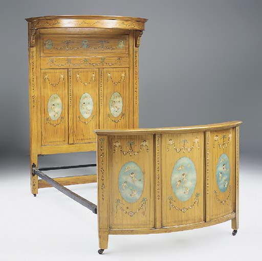 An Edwardian satinwood and pol