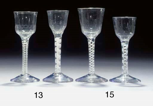 Two wine-glasses with opaque-t