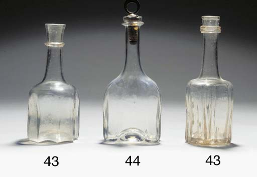 Two cruciform bottle-decanters
