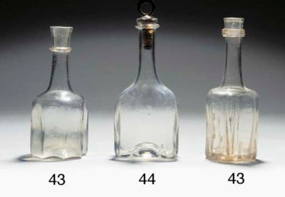 Two cruciform bottle-decanters
